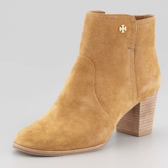 Tory Burch Suede Round-Toe Booties clearance discounts FdI3R